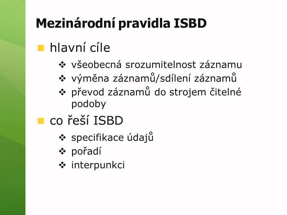 Mezinárodní pravidla ISBD