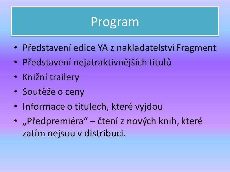 Program Představení edice YA z nakladatelství Fragment