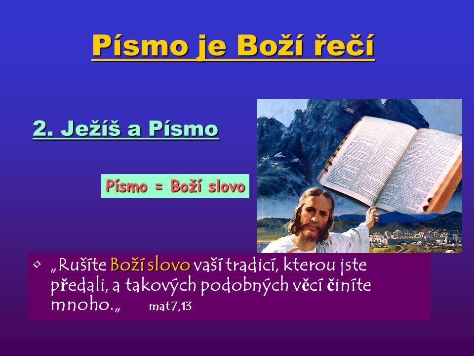 Písmo je Boží řečí 2. Ježíš a Písmo