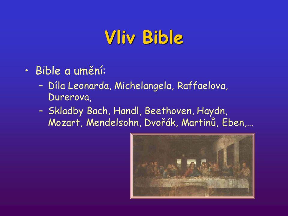 Vliv Bible Bible a umění: