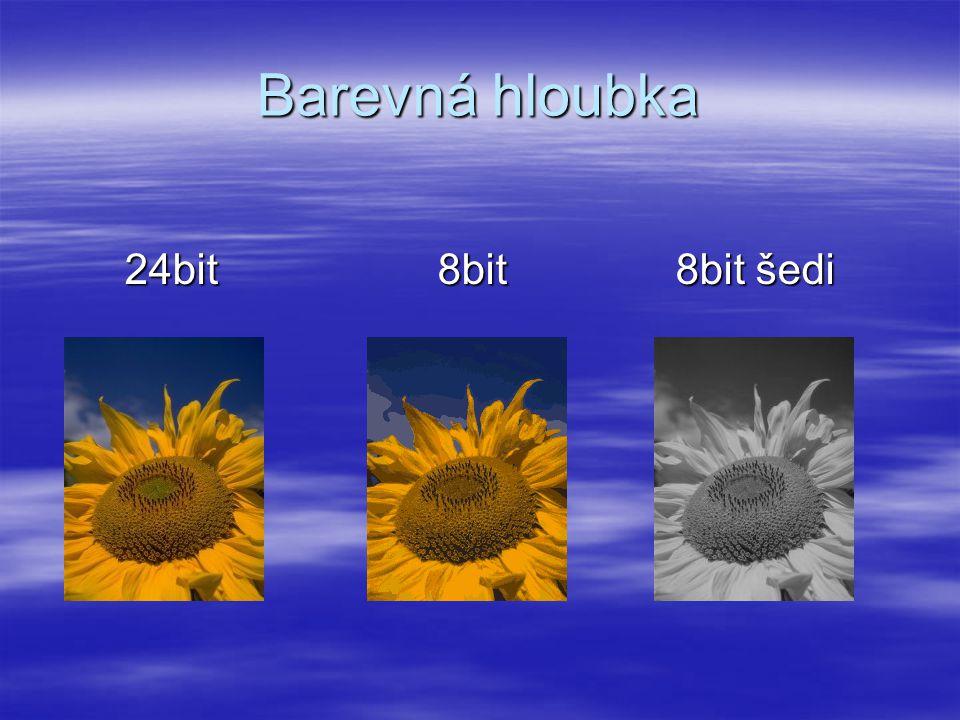 Barevná hloubka 24bit 8bit 8bit šedi