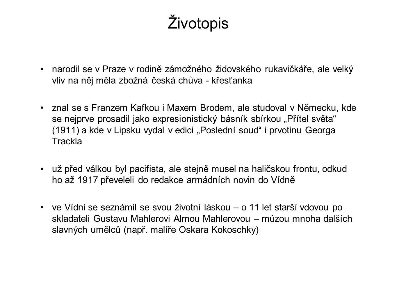 Životopis narodil se v Praze v rodině zámožného židovského rukavičkáře, ale velký vliv na něj měla zbožná česká chůva - křesťanka.