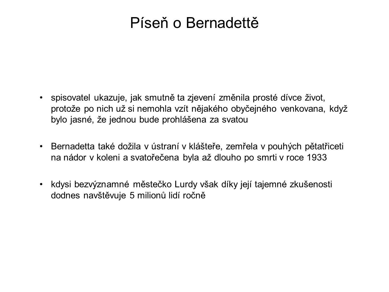 Píseň o Bernadettě