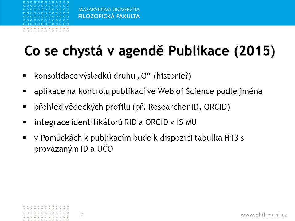 Co se chystá v agendě Publikace (2015)