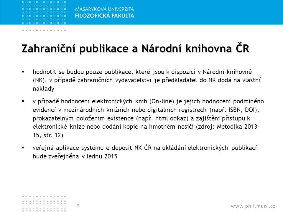 Zahraniční publikace a Národní knihovna ČR