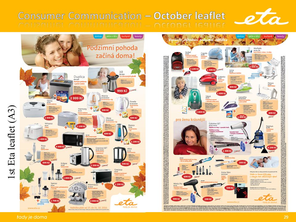 Consumer Communication – October leaflet