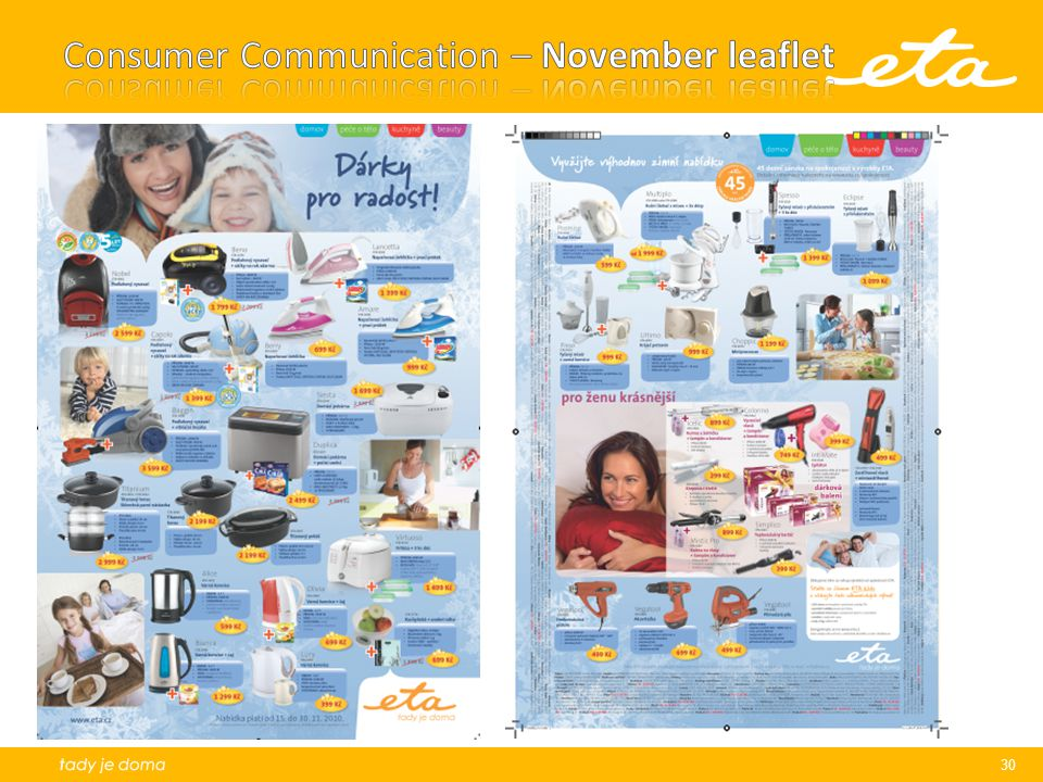 Consumer Communication – November leaflet