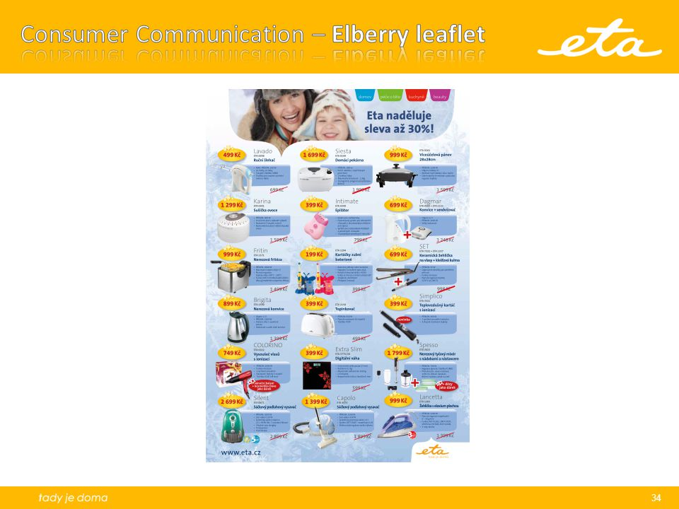 Consumer Communication – Elberry leaflet
