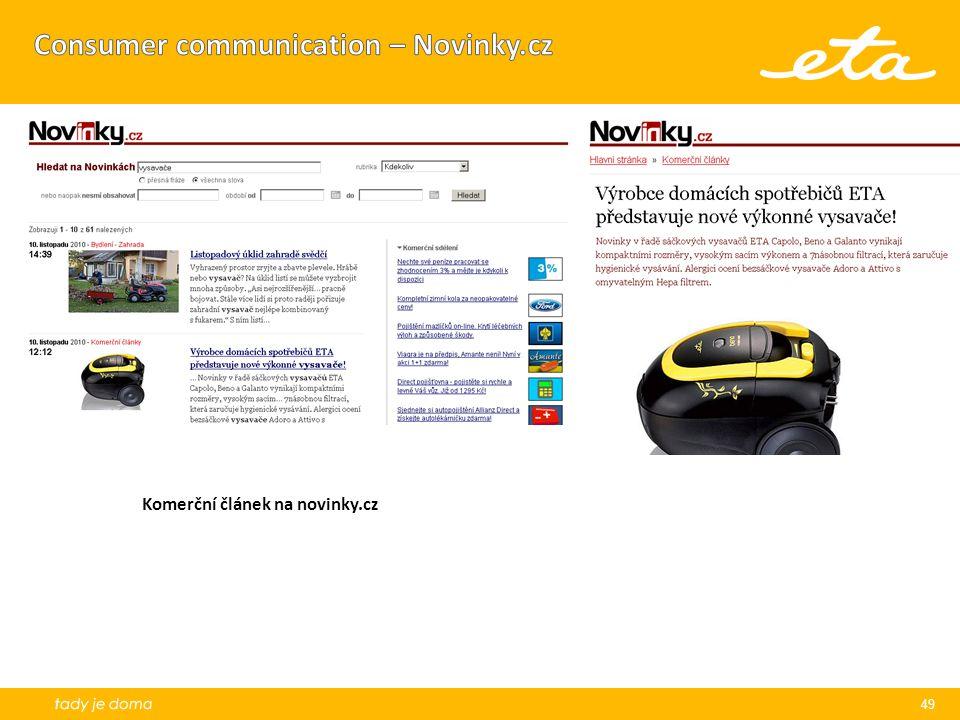 Consumer communication – Novinky.cz