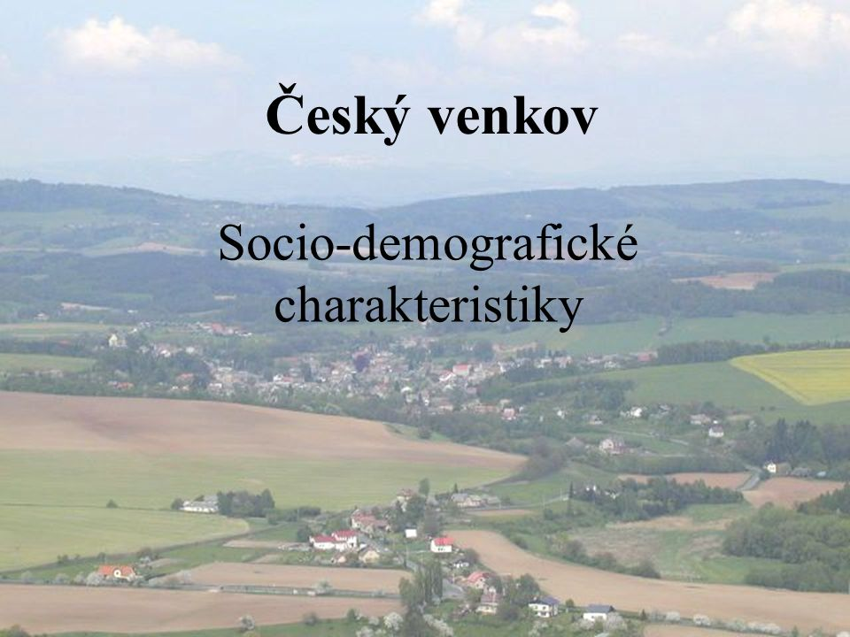 Socio-demografické charakteristiky