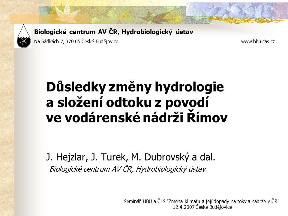 Biologické centrum AV ČR, Hydrobiologický ústav