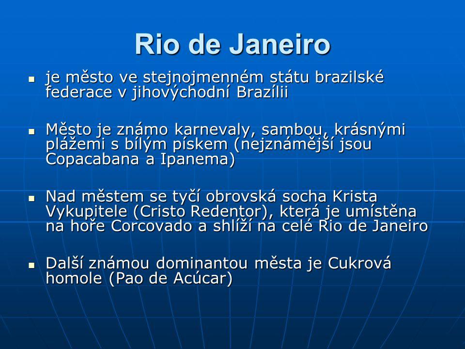 Rio de Janeiro je město ve stejnojmenném státu brazilské federace v jihovýchodní Brazílii.