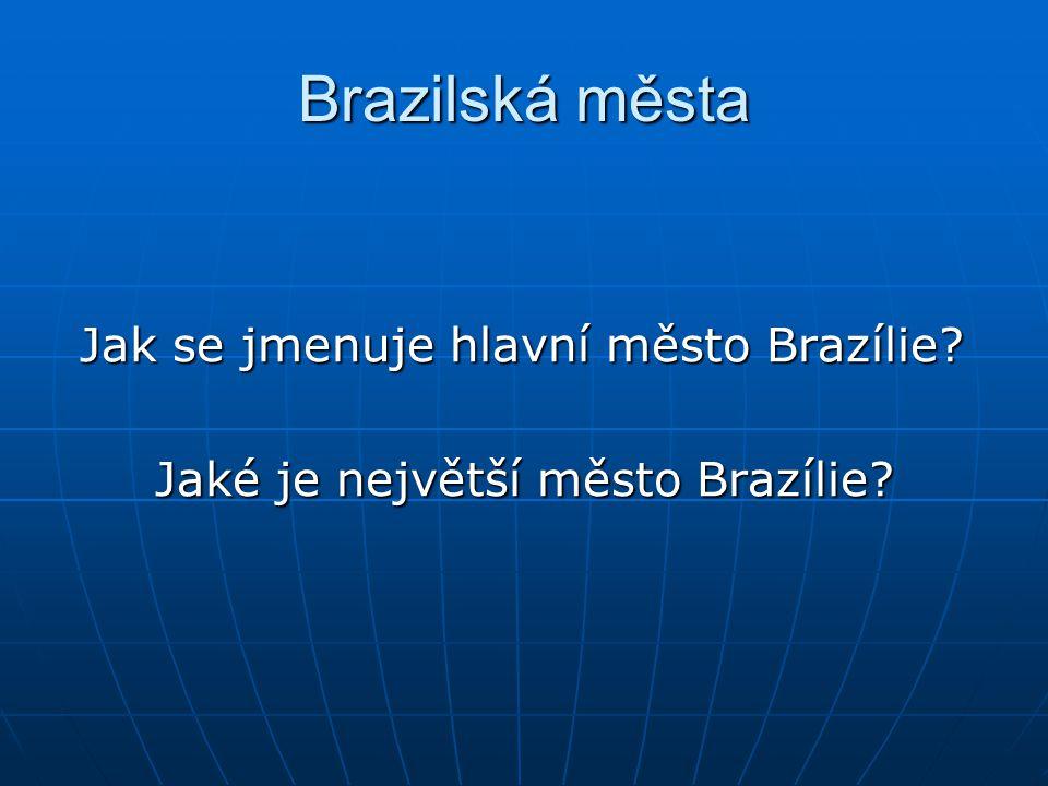 Jaké je největší město Brazílie