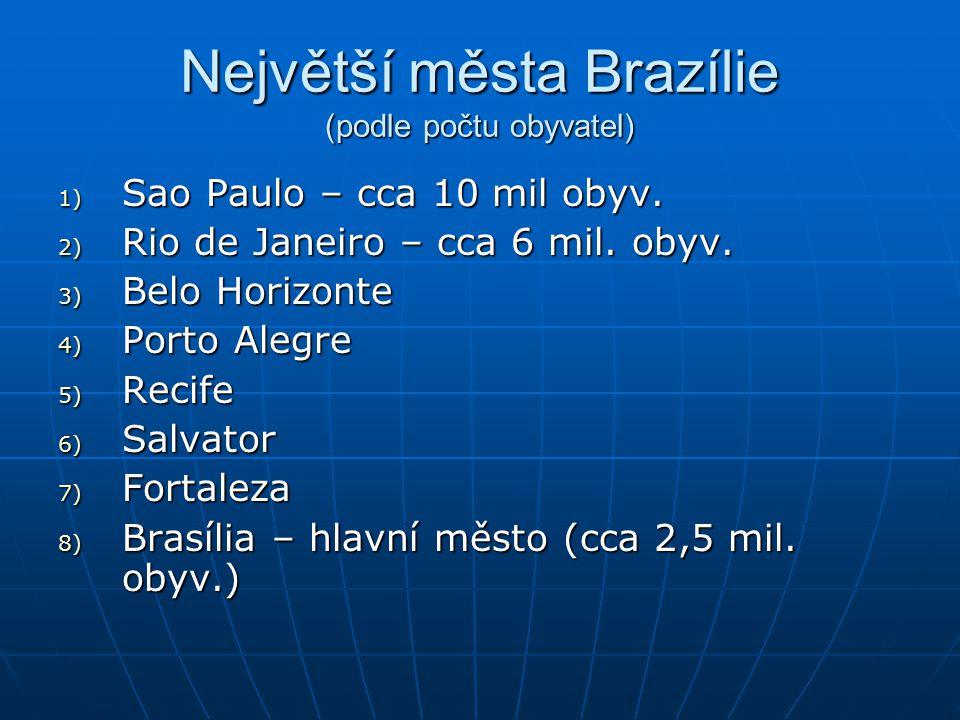 Největší města Brazílie (podle počtu obyvatel)