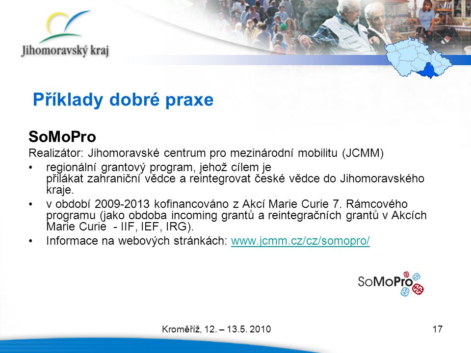 Příklady dobré praxe SoMoPro