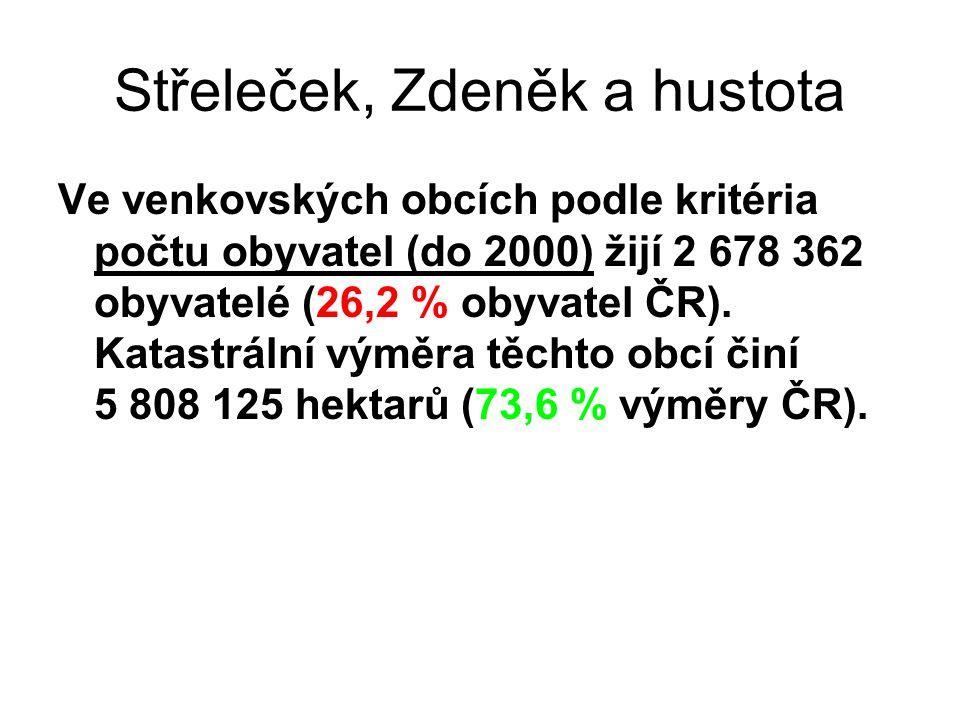 Střeleček, Zdeněk a hustota