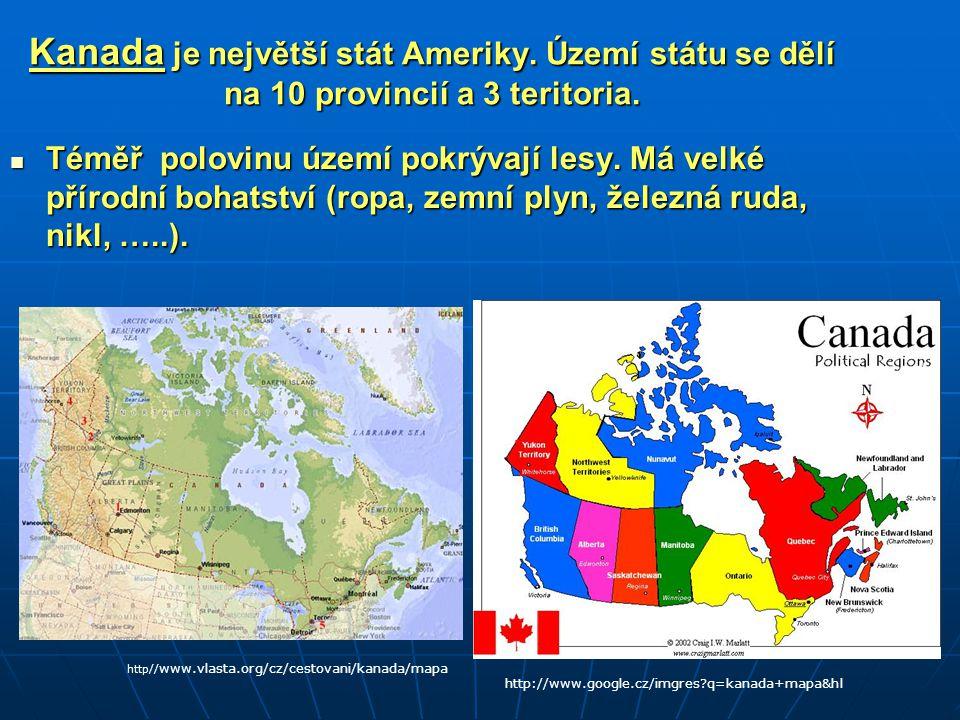 Kanada je největší stát Ameriky