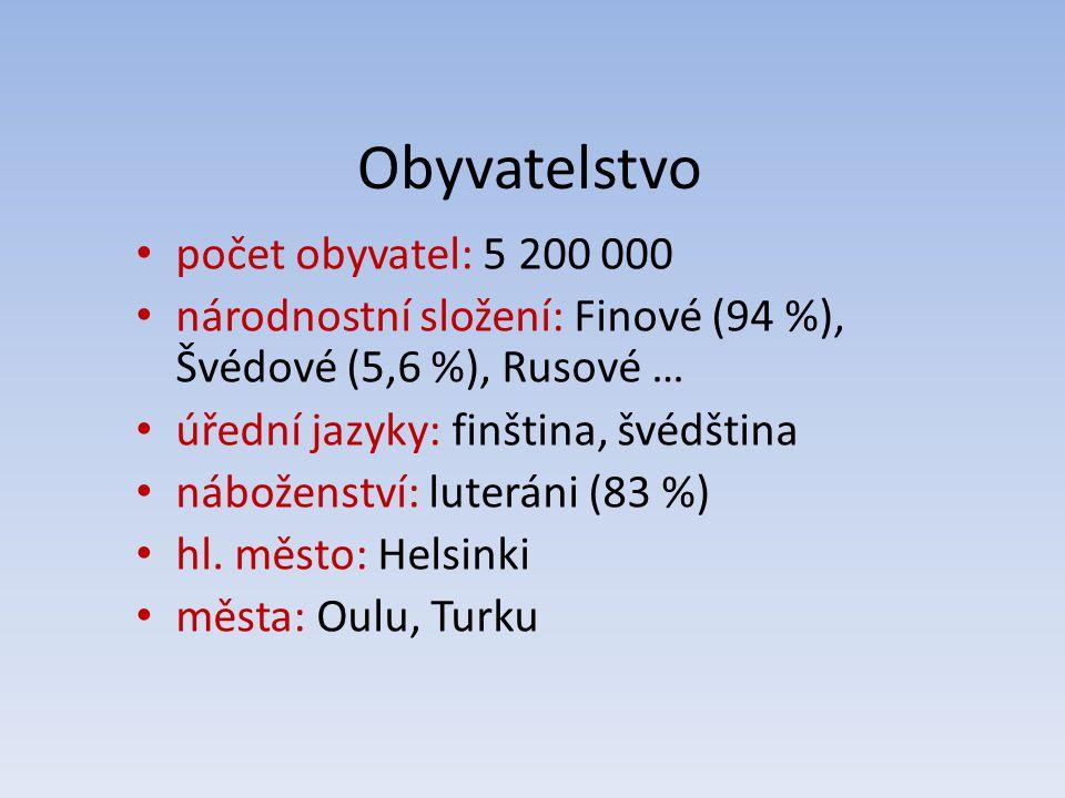 Obyvatelstvo počet obyvatel: 5 200 000