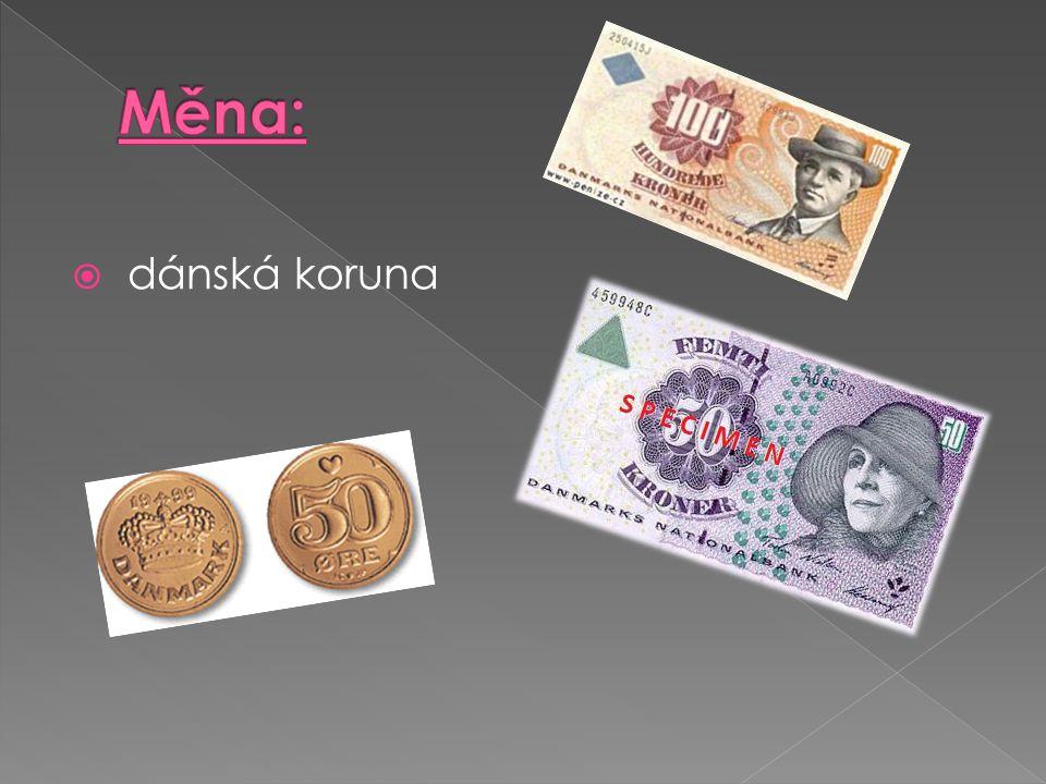 Měna: dánská koruna