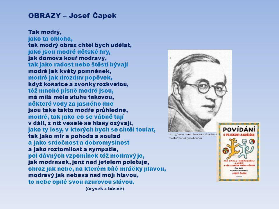 OBRAZY – Josef Čapek Tak modrý, jako ta obloha,