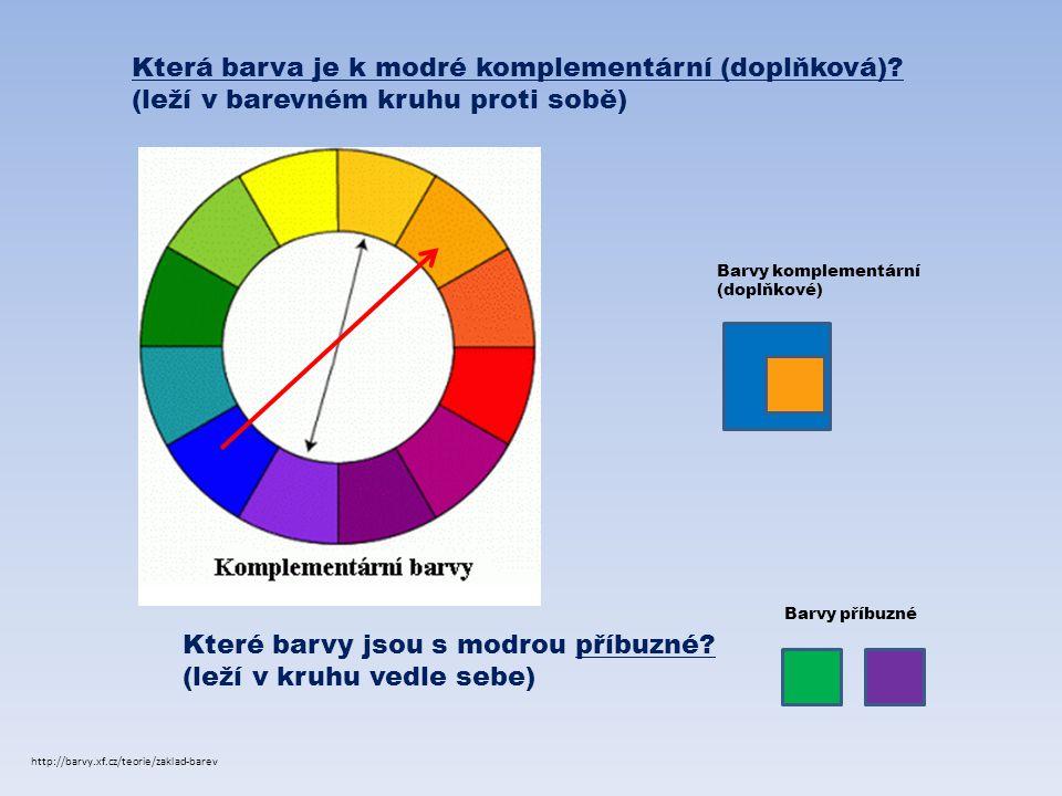 Která barva je k modré komplementární (doplňková)