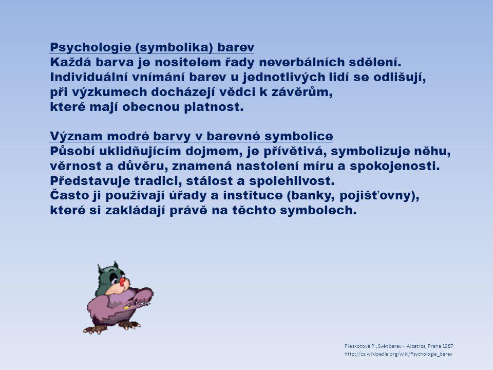 Psychologie (symbolika) barev
