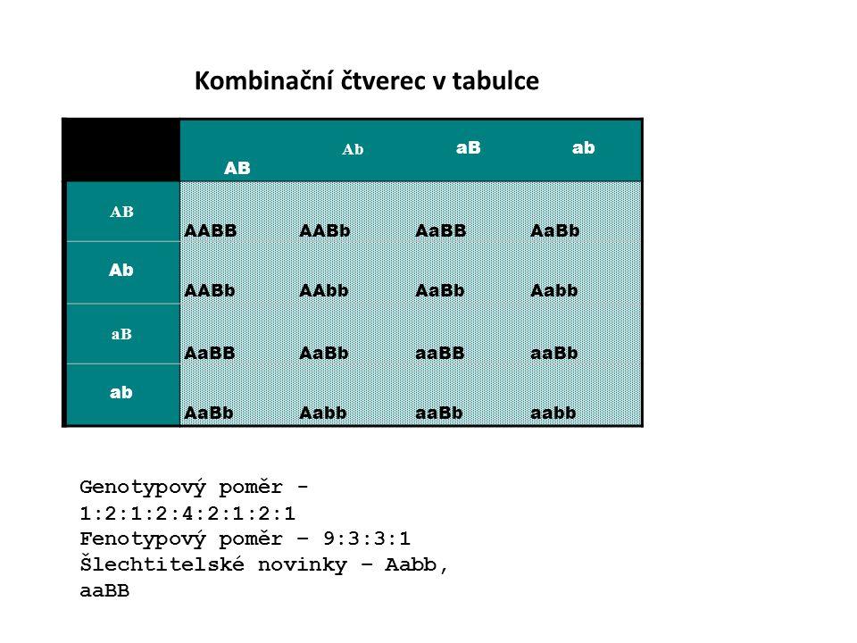 Kombinační čtverec v tabulce