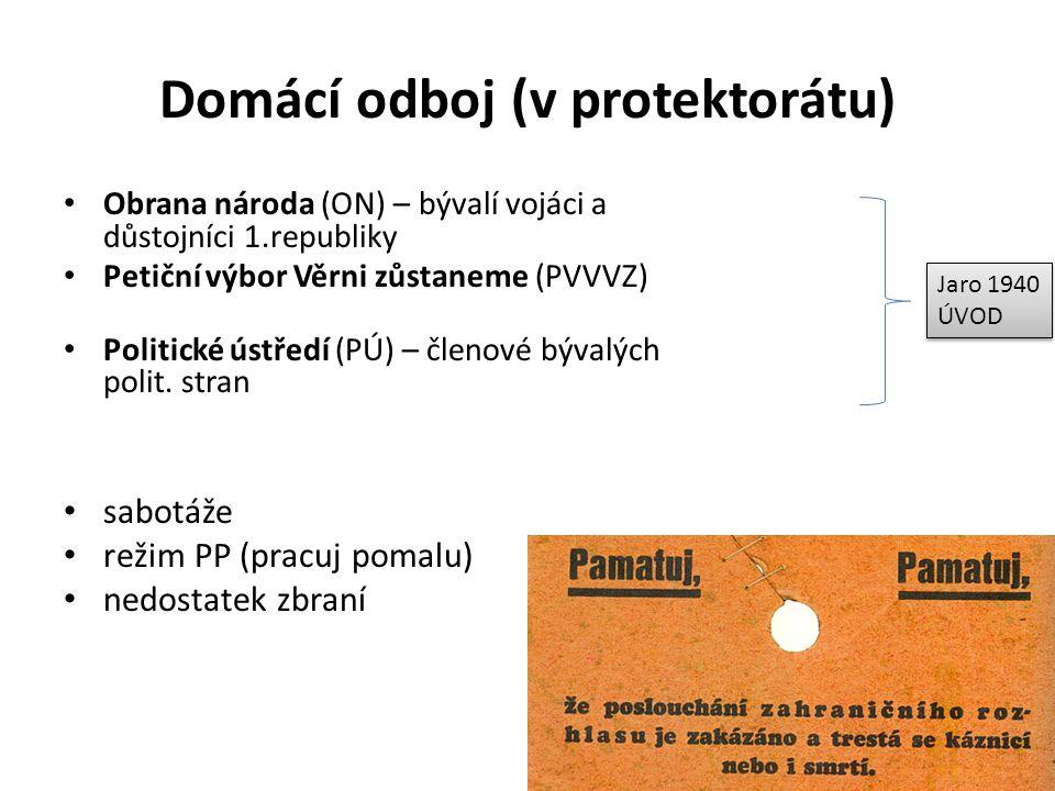 Domácí odboj (v protektorátu)