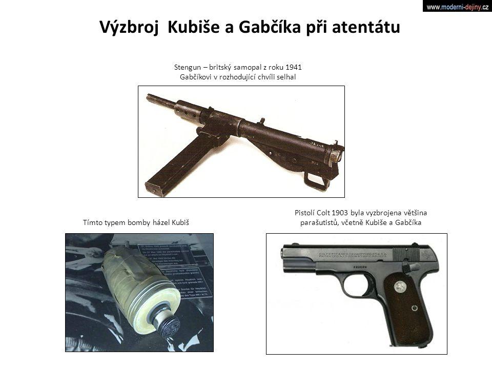 Výzbroj Kubiše a Gabčíka při atentátu