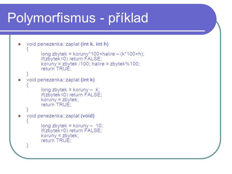 Polymorfismus - příklad