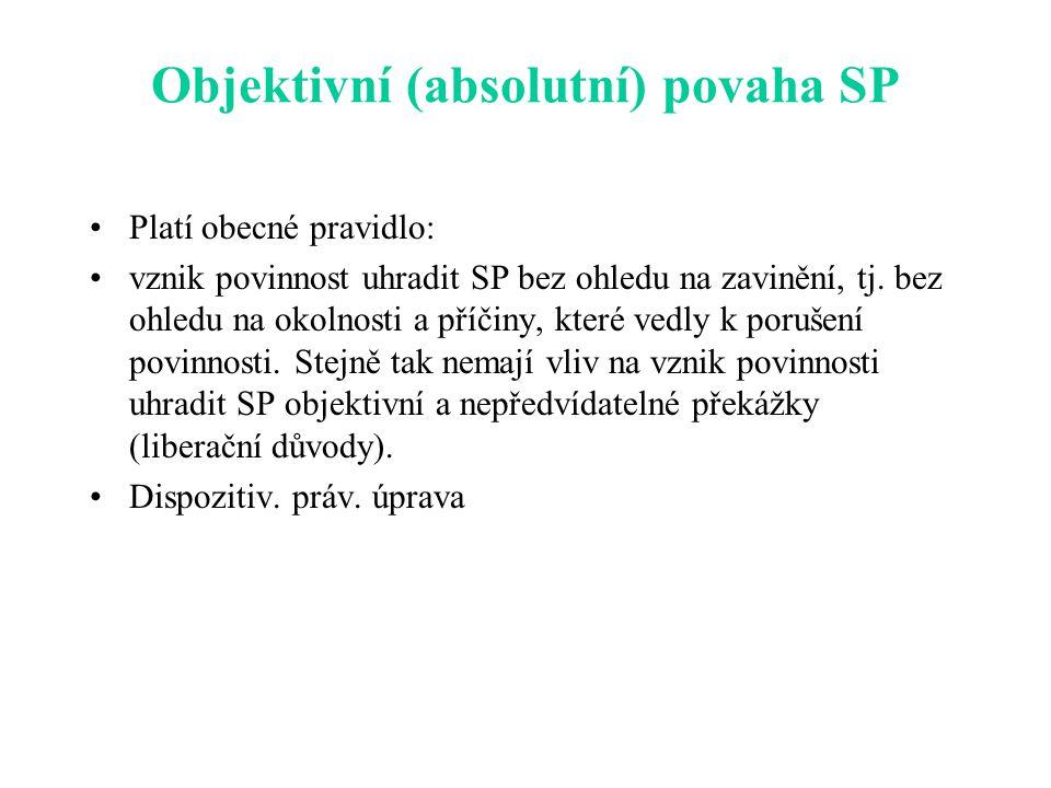 Objektivní (absolutní) povaha SP