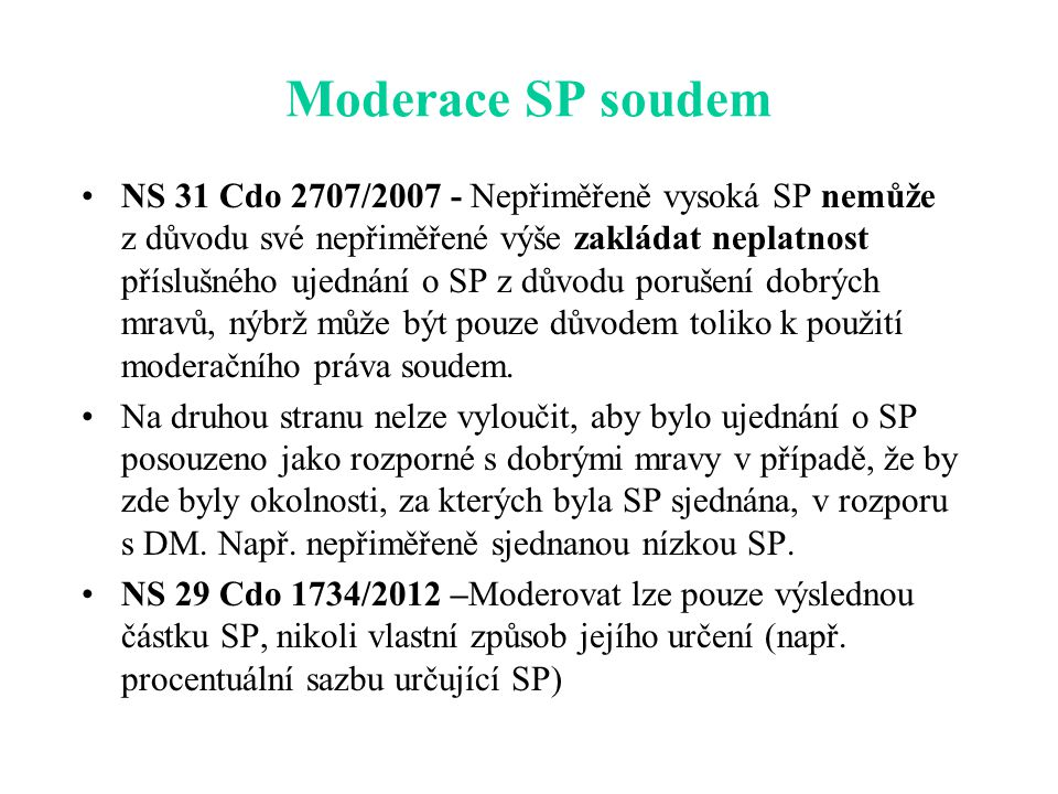 Moderace SP soudem