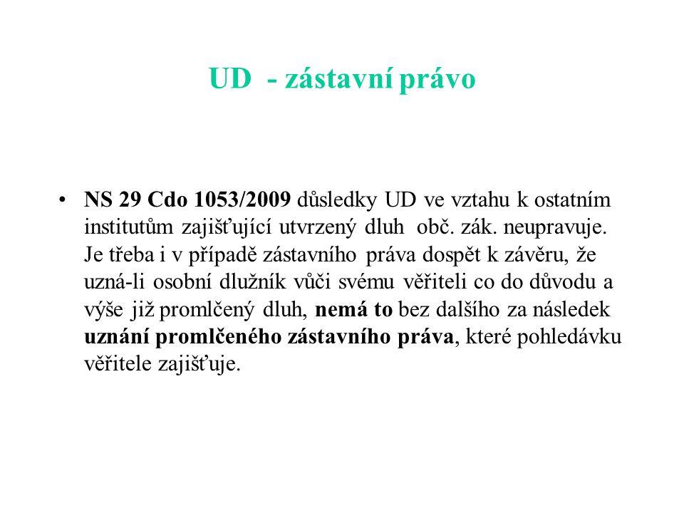 UD - zástavní právo