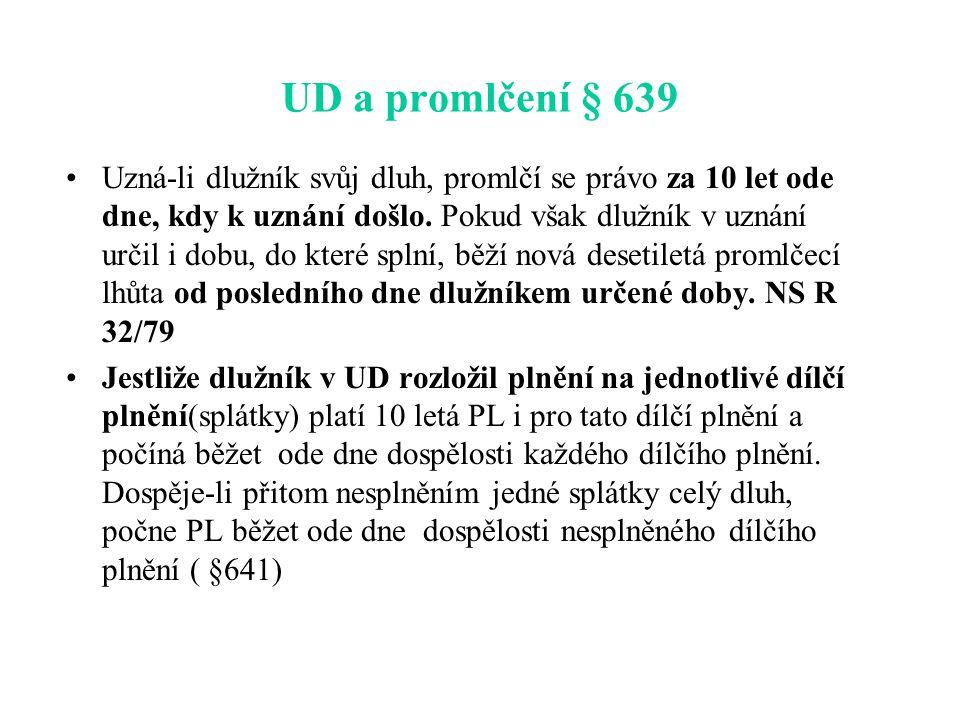 UD a promlčení § 639