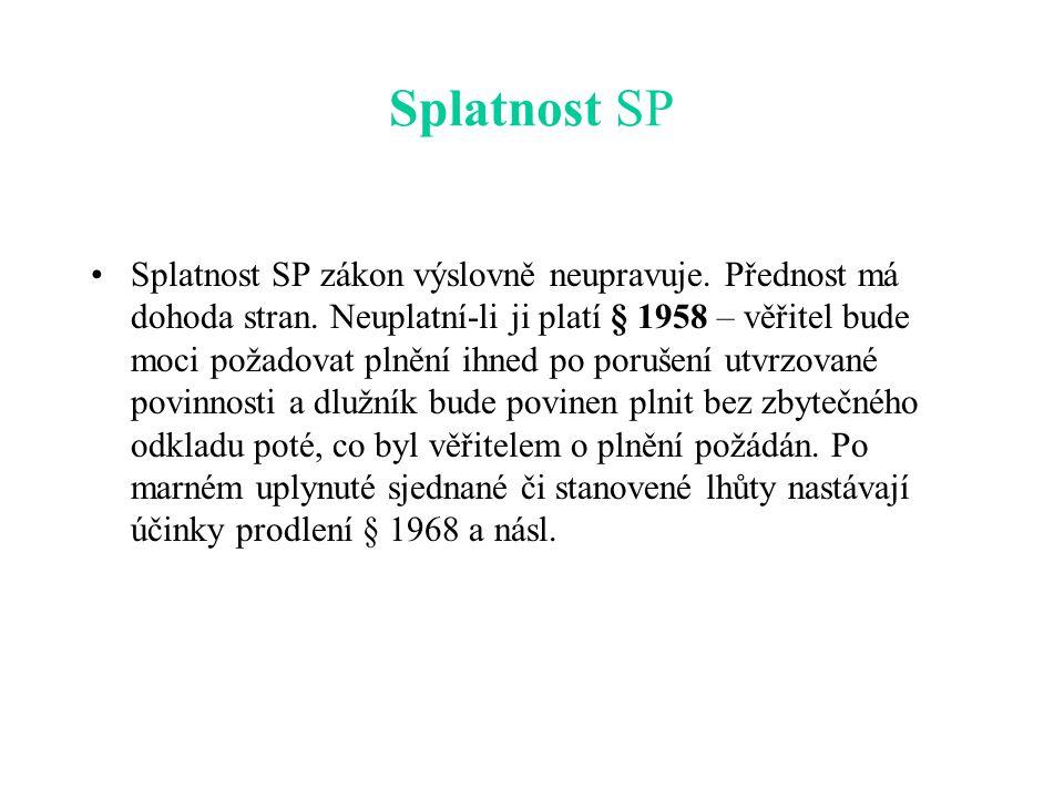 Splatnost SP