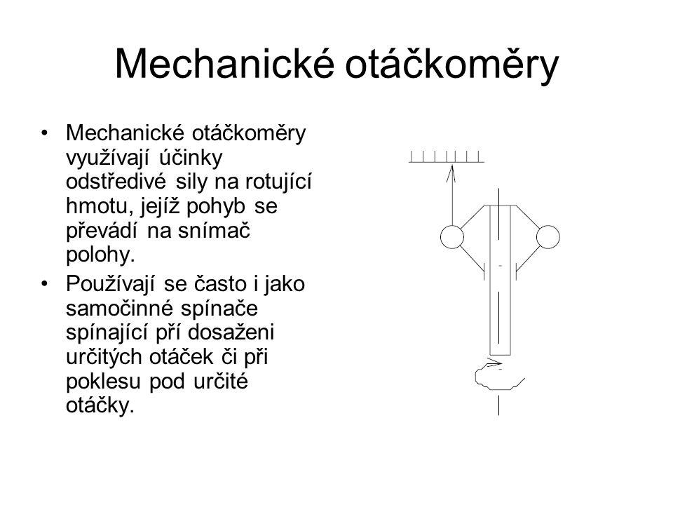 Mechanické otáčkoměry