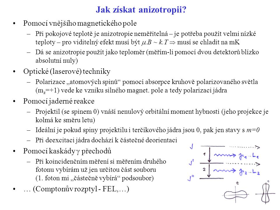 Jak získat anizotropii