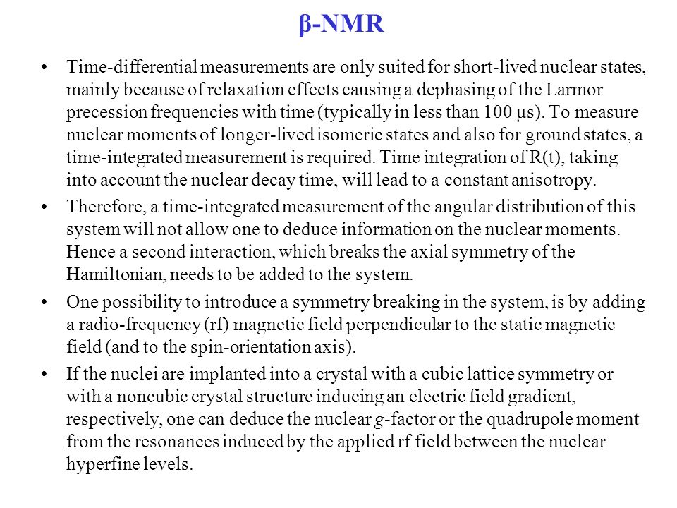 β-NMR
