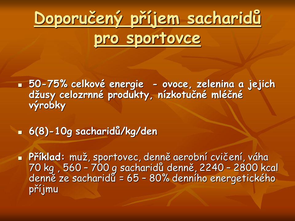 Doporučený příjem sacharidů pro sportovce