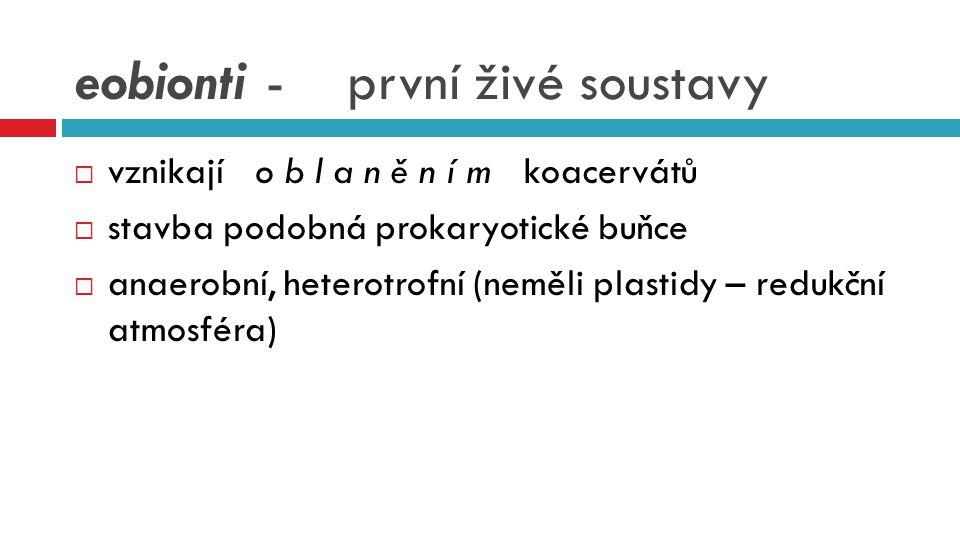 eobionti - první živé soustavy