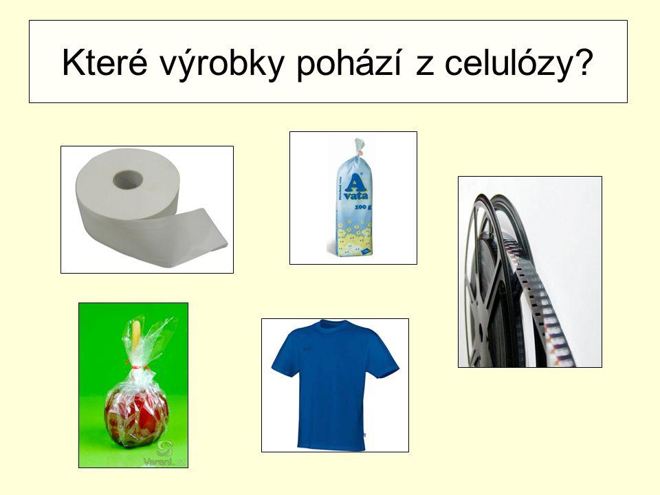 Které výrobky pohází z celulózy