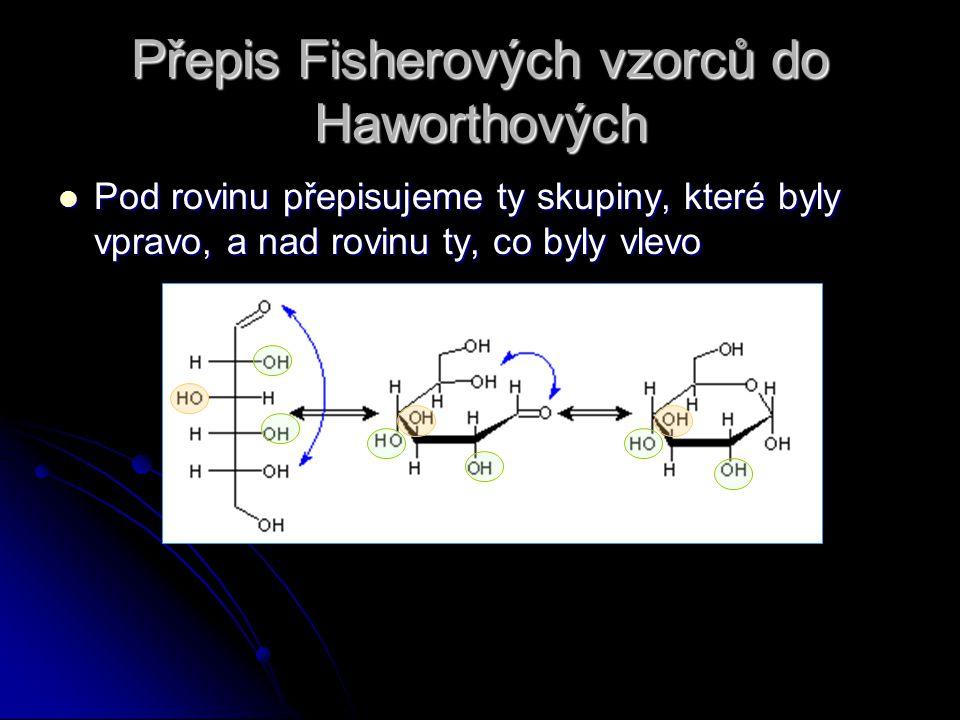 Přepis Fisherových vzorců do Haworthových