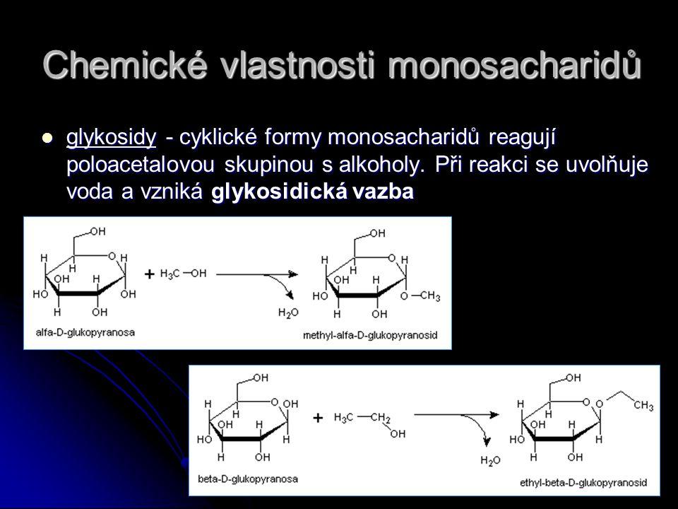 Chemické vlastnosti monosacharidů