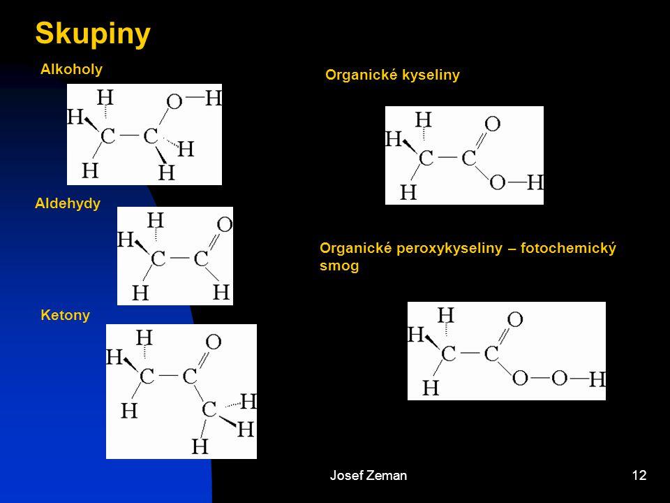 Skupiny Alkoholy Organické kyseliny Aldehydy