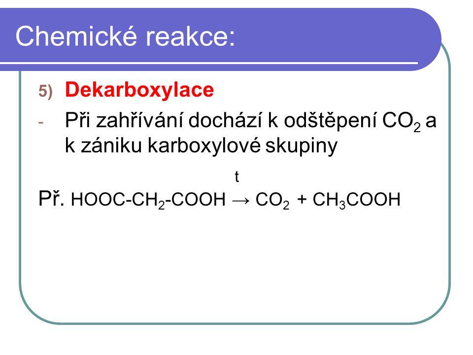 Chemické reakce: Dekarboxylace