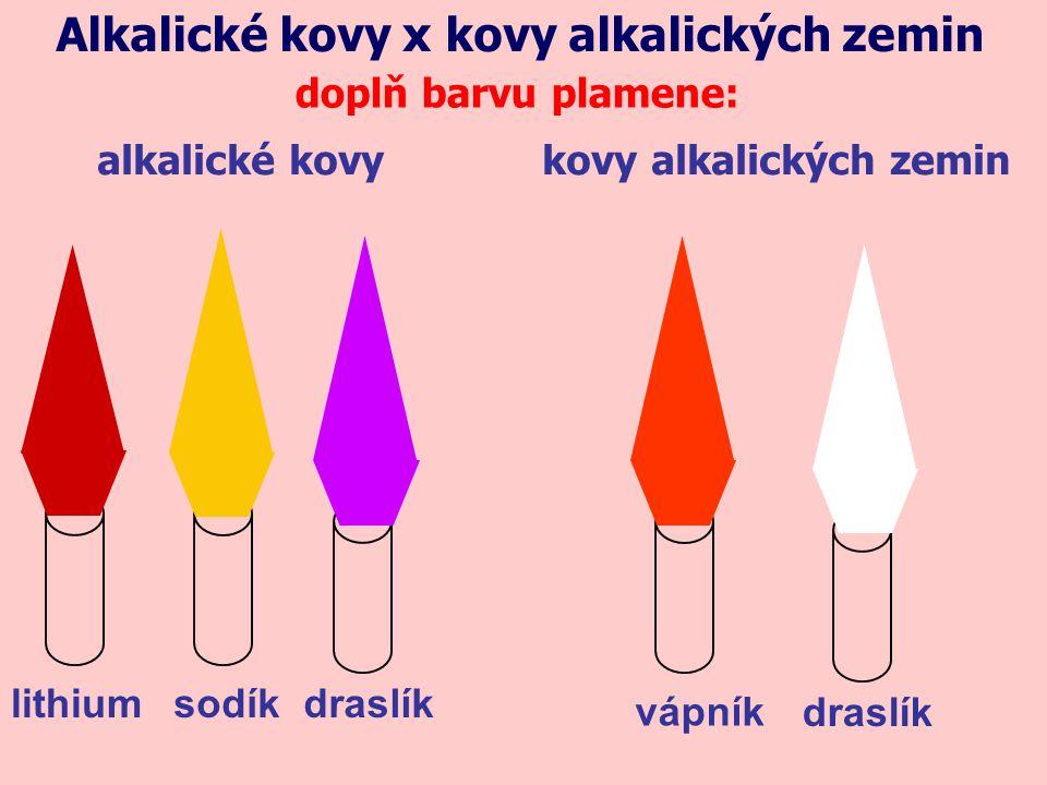Alkalické kovy x kovy alkalických zemin