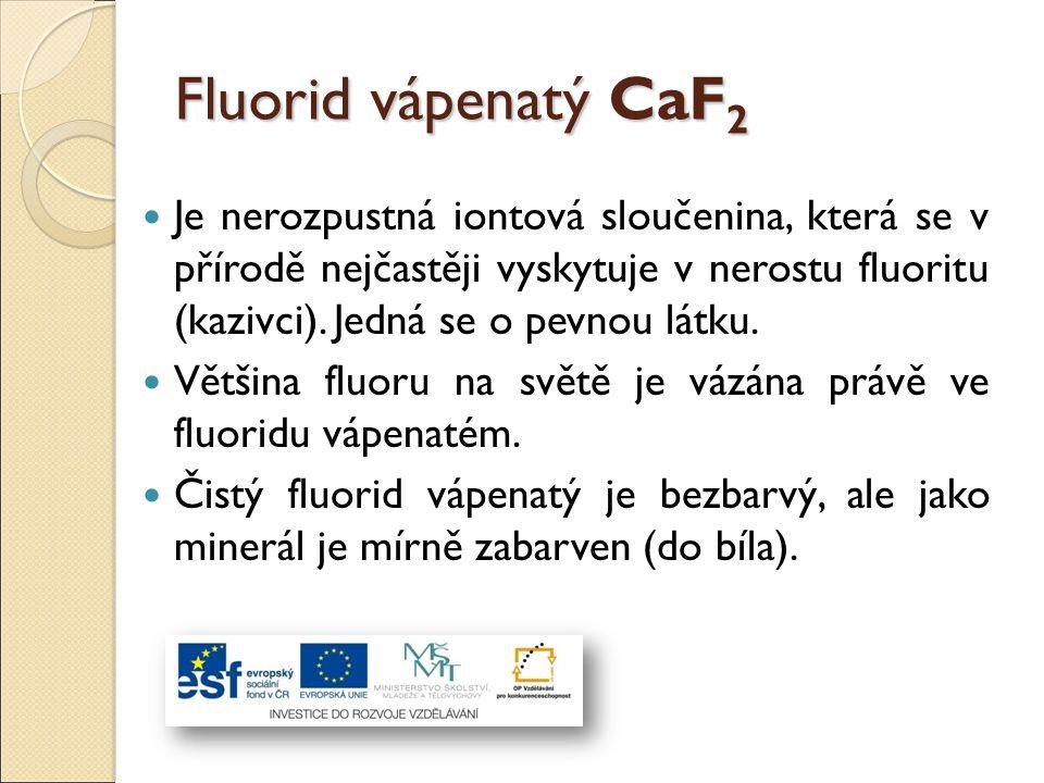 Fluorid vápenatý CaF2