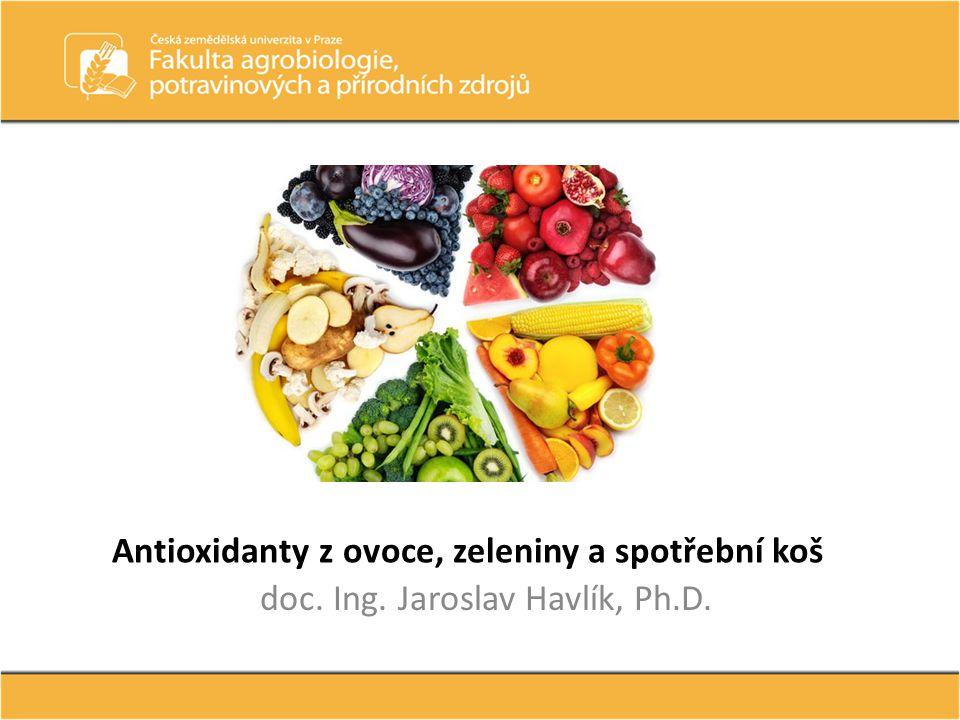 Antioxidanty z ovoce, zeleniny a spotřební koš