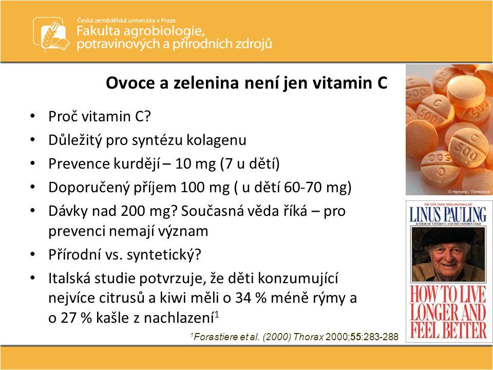 Ovoce a zelenina není jen vitamin C