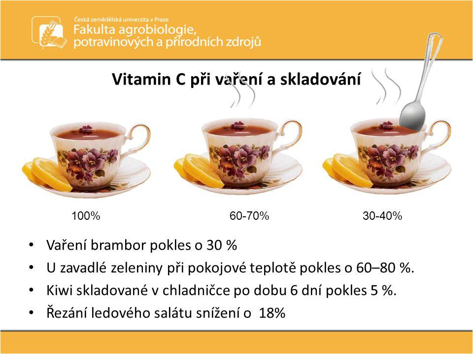 Vitamin C při vaření a skladování